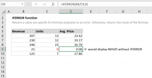 How to use the Excel IFERROR function