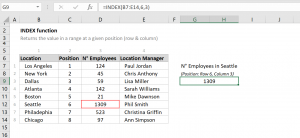 How to use the Excel INDEX function