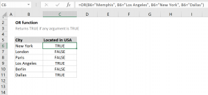 How to use the Excel OR function