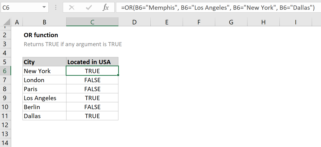 How to use the Excel OR function   ExcelFind